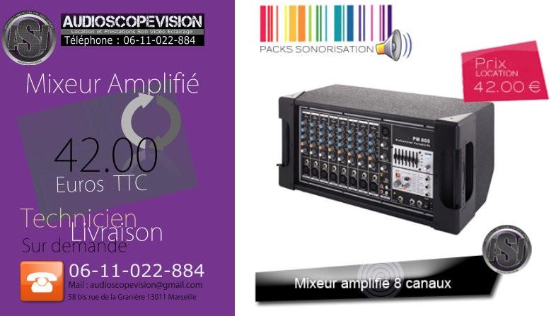 Location mixer amplifié, table mixage, Marseille, aubagne, la ciotat, cassis, 13