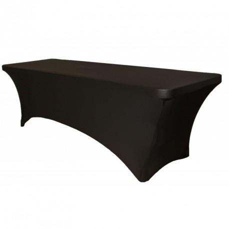 Location table avec housse stretch largeur 1m, hauteur réglable