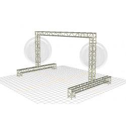 Location structure pour écran led, plein jour, extérieur, mur led, écran géant, outdoor, aix en provence, 13080