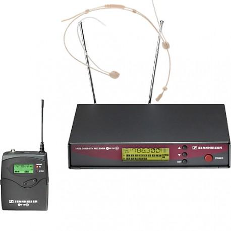 Location Micro casque, serre-tête, HF, couleur chair Sennheiser EW-100 G2, 13011-13012-13400-13360