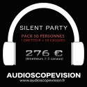 Location Pack Silent Party Disco 50 personnes, émetteur 3 canaux