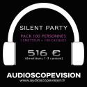 Location Pack Silent Party Disco 100 personnes, émetteur 3 canaux