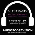 Location Pack Silent Party Disco 100 personnes, émetteur 10 canaux