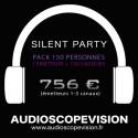 Location Pack Silent Party Disco 150 personnes, émetteur 3 canaux