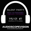 Location Pack Silent Party Disco 150 personnes, émetteur 10 canaux