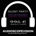 Location Pack Silent Party Disco 200 personnes, émetteur 3 canaux