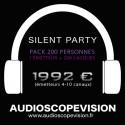 Location Pack Silent Party Disco 200 personnes, émetteur 10 canaux