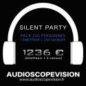 Location Pack Silent Party Disco 250 personnes, émetteur 3 canaux