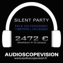 Location Pack Silent Party Disco 250 personnes, émetteur 10 canaux