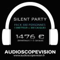 Location Pack Silent Party Disco 300 personnes, émetteur 3 canaux