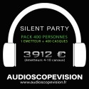 Location Pack Silent Party Disco 400 personnes, émetteur 10 canaux