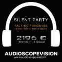 Location Pack Silent Party Disco 450 personnes, émetteur 3 canaux