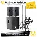 Location Pack son 1200W Rms 2400W Music sub 15