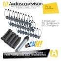 Location Audioguide Pack 70 pers pour visite guidée, location audiophone