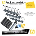 Location Audioguide Pack 90 pers pour visite guidée, location audiophone