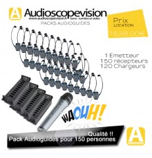 Location Audioguide Pack 150 pers pour visite guidée, location audiophone