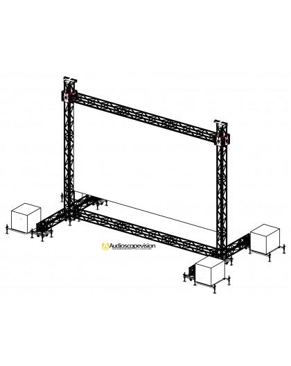 Location structure pour écran led plein jour extérieur grand écran géant led outdoor