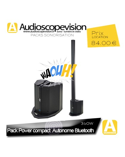 Location Pack sono 350W RMS colonne design Bluetooth Autonome sur batterie
